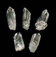 Clear Quartz finger points from Arkansas 2 inch